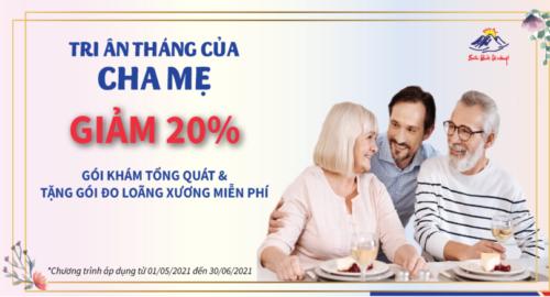 Quà tặng sức khoẻ Ngày của Mẹ 09/05/2021